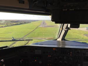 CemAir Dash 8 Q300 approach to Dublin