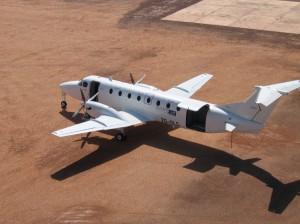 CemAir Beechcraft 1900C at Thar Jath, South Sudan