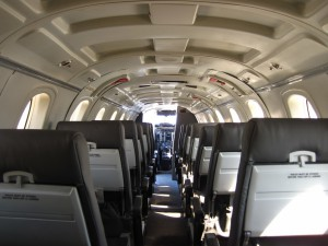 CemAir Beechcraft 1900C Cabin. CemAir leases aircraft and operates an airline