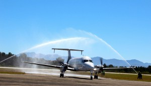 CemAir Beechcraft 1900D first arrival and welcome to Plettenberg Bay. CemAir leases aircraft and operates an airline