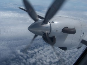 Leased CemAir Beechcraft 1900C over the DRC. CemAir leases aircraft and operates an airline