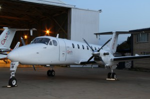 CemAir Beechcraft 1900D at home base, OR Tambo International Airport. CemAir leases aircraft and operates an airline