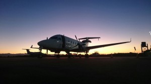 CemAir Beechcraft 1900D at Plettenberg Bay. CemAir leases aircraft and operates an airline