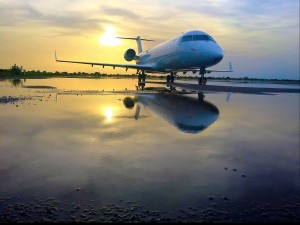 Leased CemAir Bombardier CRJ in Sudan. CemAir leases aircraft and operates an airline