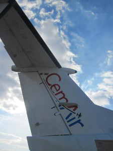 CemAir Beechcraft 1900D tail. CemAir leases aircraft and operates an airline