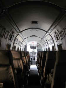 CemAir Beechcraft 1900D Cabin. CemAir leases aircraft and operates an airline