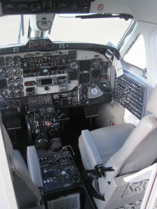 CemAir Beechcraft 1900D Cockpit. CemAir leases aircraft and operates an airline